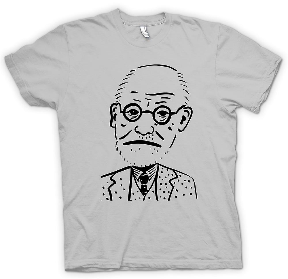 Mens T-shirt - Sigmund Freud - Psychology - Caricature