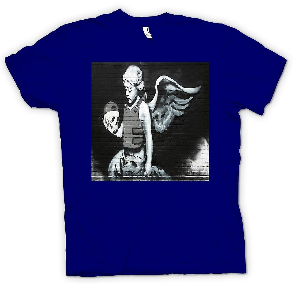 Mens T-shirt - Banksy Angel - Wall Mural