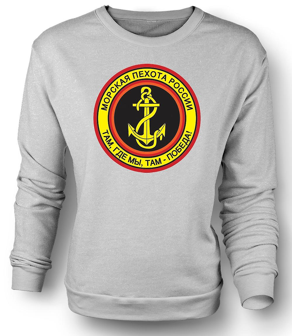 Mens Sweatshirt russisk marineinfanteri