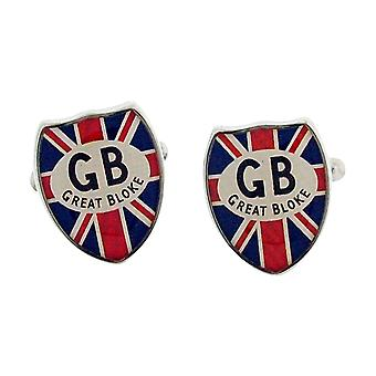 Harvey Makin heren Silvertone Metal Union Jack