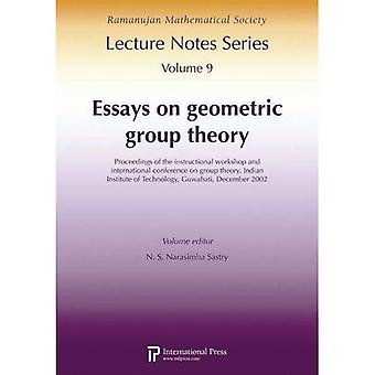 Essays on Geometric Group Theory: Proceedings of the Instructional Workshop and International Conference on Group...