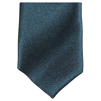 Knightsbridge Neckwear Skinny Polyester Tie - Dark Green