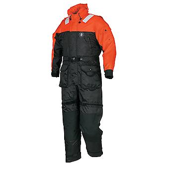 Mustang Deluxe Anti-Exposure Coverall & Worksuit - MED - Orange/Black