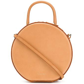 Mansur Gavriel Beige Leather Shoulder Bag