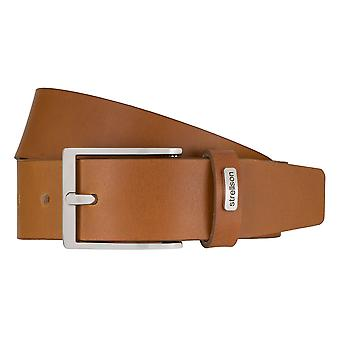 Strellson jeans belt men belt cowhide leather belt Cognac 7924