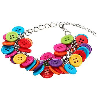 Multi-Coloured Cluster Buttons Bracelet