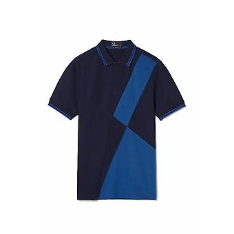 Fred Perry Mixed Panel Pique Men's Short Sleeved Polo Shirt