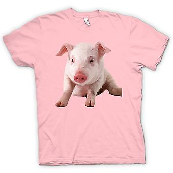 Kids T-shirt - Cute Piglet Pig Portrait