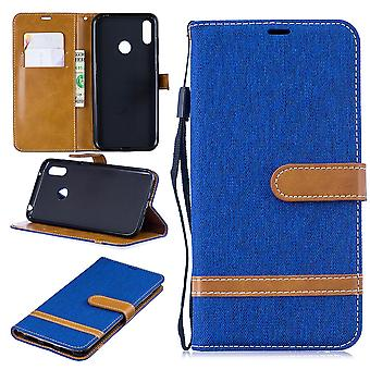 Huawei Y7 2019 Phone Case Protective Case Case Cover Card Case Wallet Blue