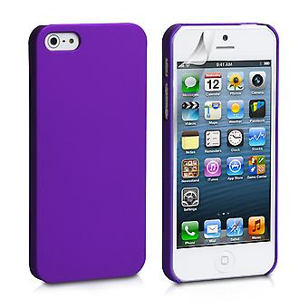 YouSave Accessories iPhone 5 and 5S Purple Hard Hybrid Case