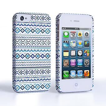 Caseflex iPhone 44S Fairisle Case – Blue with White Background