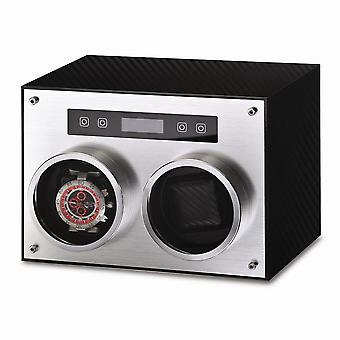 Rotations Carbon Fiber Finish & Aluminum Dual Watch Winder