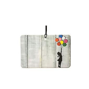 Banksy Girl With Floating Balloons Car Air Freshener