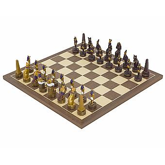 The Ancient Egypt Hand painted themed Chess set by Italfama