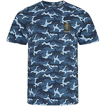 Queens Royal Ierse Hussars veteraan-gelicentieerde Britse leger geborduurd camouflage print T-shirt