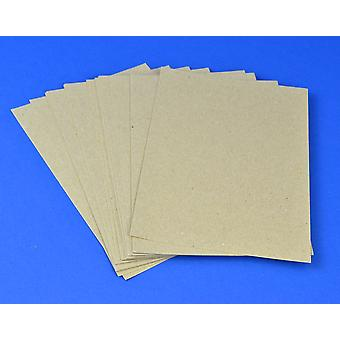 125 A5 Natural Brown Recycled Style Kraft Card Sheets for Crafts | Coloured Card for Crafts
