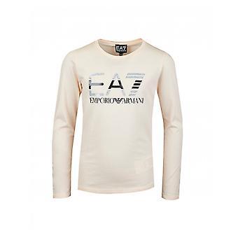 Ea7 Sparkle Logo Long Sleeved T-shirt