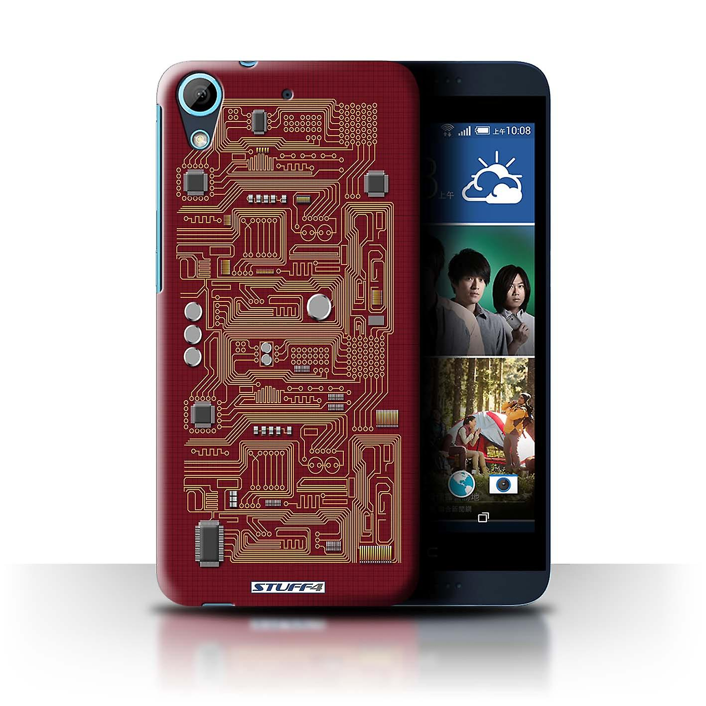 stuff4 case cover for htc desire 626 red circuit board. Black Bedroom Furniture Sets. Home Design Ideas