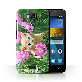 STUFF4 Case/Cover for Huawei Honor Bee/Y5c/Garden/Cute Kittens