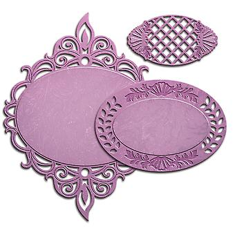 Spellbinders Nestabilities Decorative Elements Dies-Majestic Oval S4541