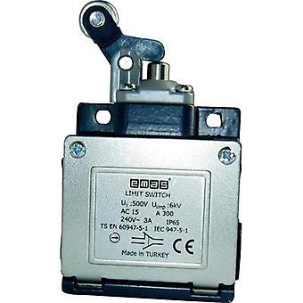 Limit switch 240 Vac 3 A Lever momentary EMAS L53K13MIM411 IP65 1 pc(s)