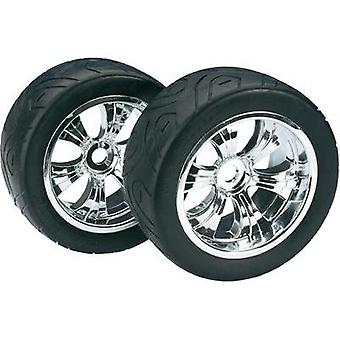 Absima 1:8 Truggy Wheels Street 6-spoke Chrome 2 pc(s)