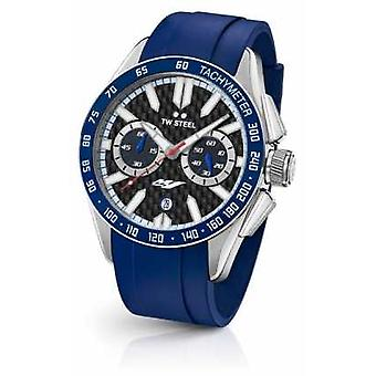 TW Steel Mens Yamaha Blue Silicone Strap GS3 Watch