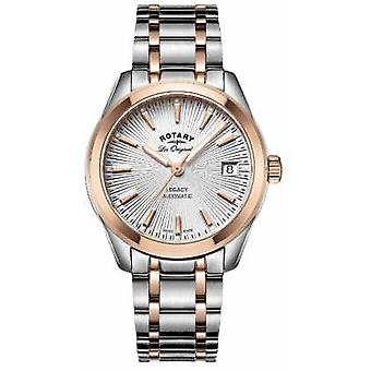 Rotary Womens Les Originales Legacy Automatic Two Tone Rose Gold LB90167/06 Watch