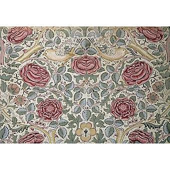 Rose wzór Poster Print przez William Morris