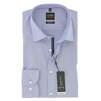 Olympus mens business shirt level 5 violet body fit New York Kent comfort stretch size 42