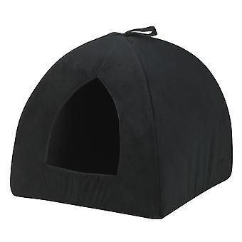 Catrine Cat Den Suede Black 38x38cm