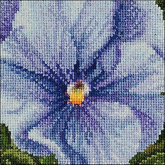 Pansy VII On Aida Counted Cross Stitch Kit-3.75