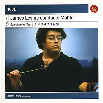 J. Brahms - James Levine gennemfører Mahler: Symfonier nr. 1, 3, 4, 5, 6, 7, 9 & 10 [CD] USA importerer
