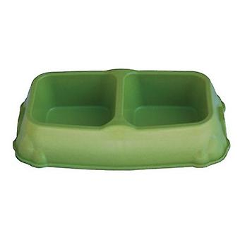 Freedog Bamboo Twin Bowl for Pets (Dogs , Bowls, Feeders & Water Dispensers)