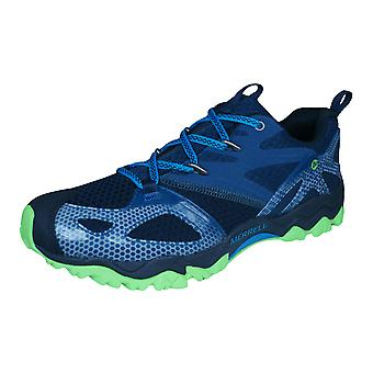 Merrell Grassbow Rider Mens Hiking / Walking Trainers / Shoes - Blue