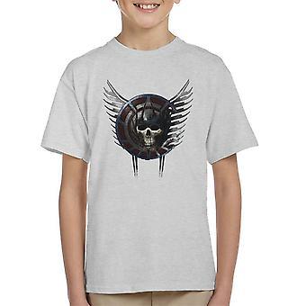 Battle Crest Skull Kid's T-Shirt