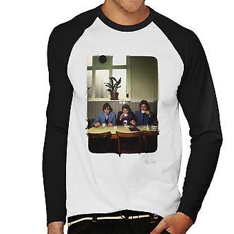 Jam nyheten om verden Cafe Menns Baseball lange ermer t-skjorte