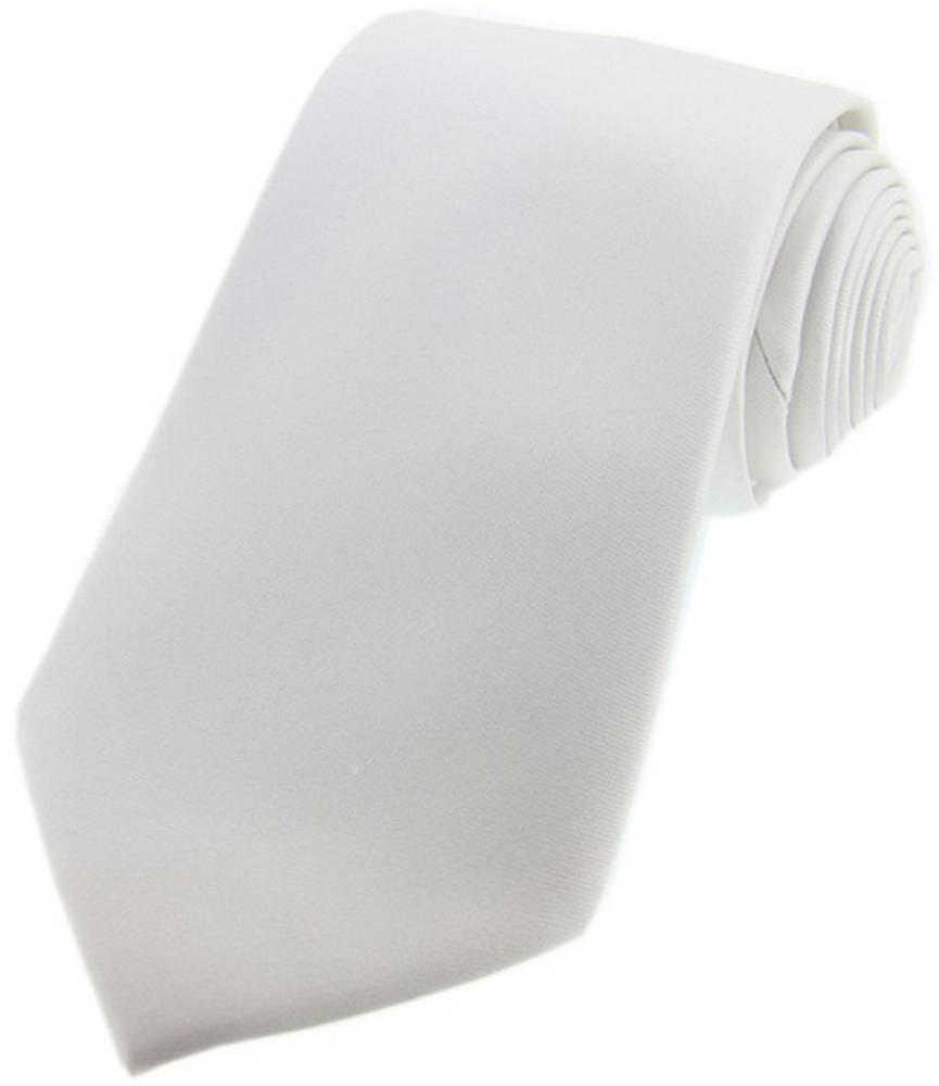 David Van Hagen Satin Silk Tie - White