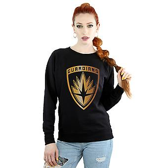 Marvel Women's Guardians Of The Galaxy Foil Badge Sweatshirt