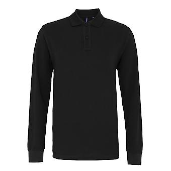 Asquith & Fox Mens Classic Fit Long Sleeved Polo Shirt