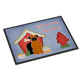 Dog House Collection Fawn Boxer Indoor or Outdoor Mat 18x27