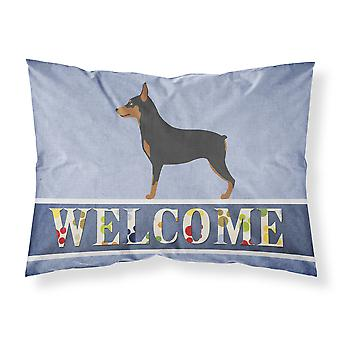 Miniature Pinscher Welcome Fabric Standard Pillowcase