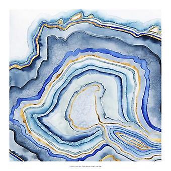Cobalt Agate I Poster Print by Grace Popp (18 x 18)