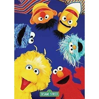 Sesame Street Cast Poster Poster Print by