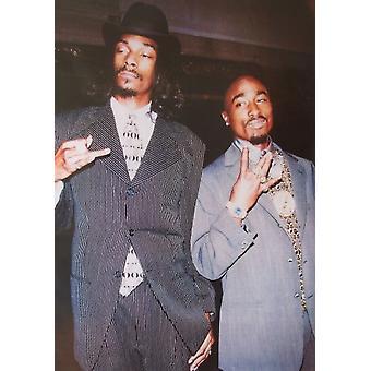 2 pac y Snoop Dog trajes cartel Poster Print