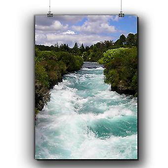 Matte or Glossy Poster with River Forest Photo Nature | Wellcoda | *q294