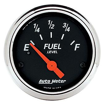 Auto Meter 1424 Designer Black Fuel Level Gauge