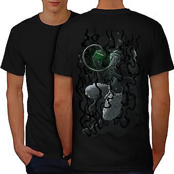 Under Water Mask Men BlackT-shirt Back | Wellcoda