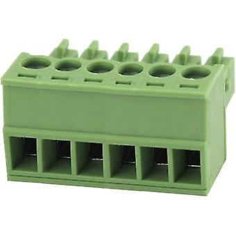 Pin enclosure - cable Total number of pins 6 Degson 15EDGK-3.81-06P-14-00AH Contact spacing: 3.81 mm 1 pc(s)