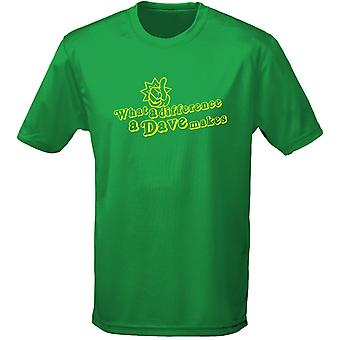 What A Difference A Dave Makes Mens T-Shirt 10 Colours (S-3XL) by swagwear